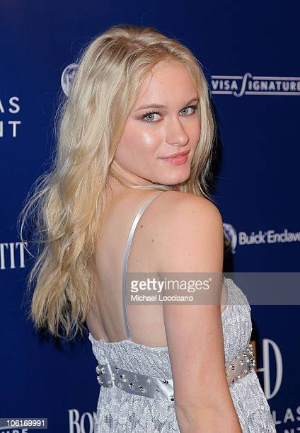 Actress Leven Rambin arrives to Douglas Hannant's Tenth Anniversary Celebration at The Bon Appetit Supper Club in New York City on October 26 2007
