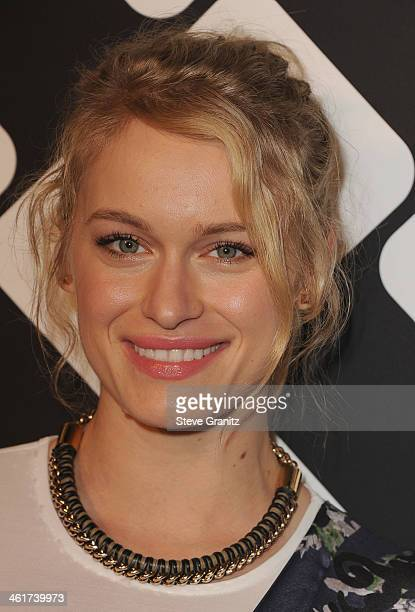Actress Leven Rambin attends Diane Von Furstenberg's 'Journey Of A Dress' Premiere Opening Party at Wilshire May Company Building on January 10 2014...