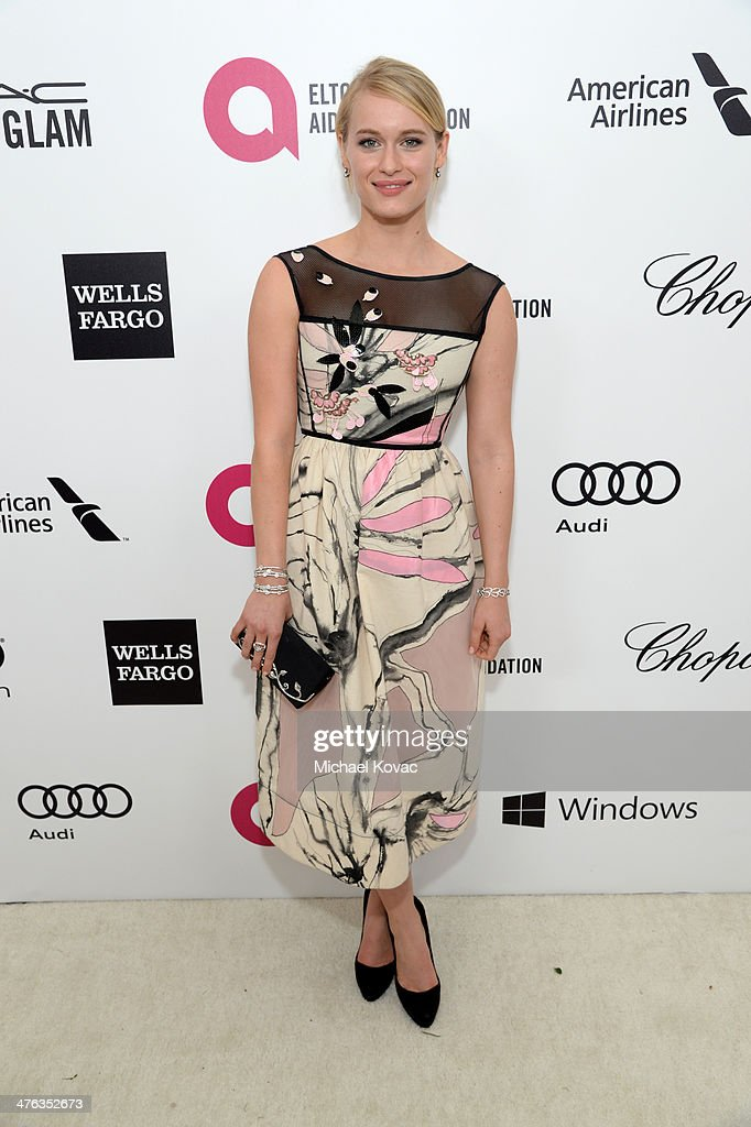 Actress Leven Rambin attends the 22nd Annual Elton John AIDS Foundation Academy Awards Viewing Party at The City of West Hollywood Park on March 2, 2014 in West Hollywood, California.