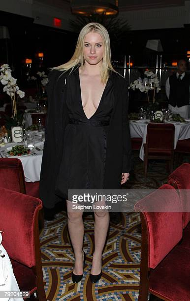 Actress Leven Rambin attends the dinner for a private screening of 'Persepolis' at Brasserie Ruhlmann January 24 2008 in New York City