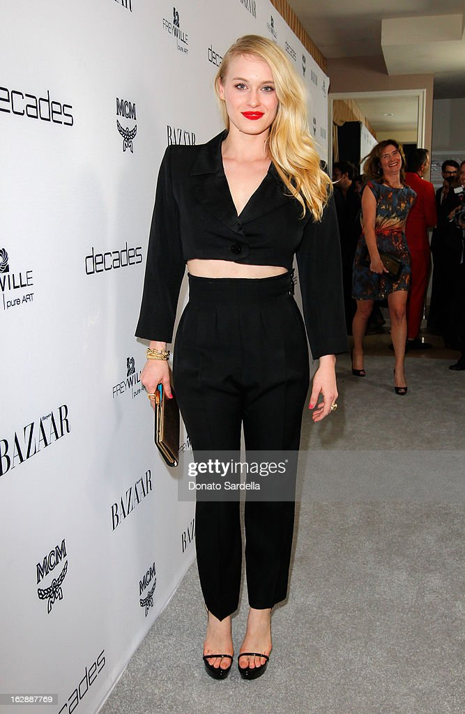 Actress Leven Rambin attends the Dukes Of Melrose launch hosted by Decades, Harper's BAZAAR, and MCM on February 28, 2013 in Los Angeles, California.