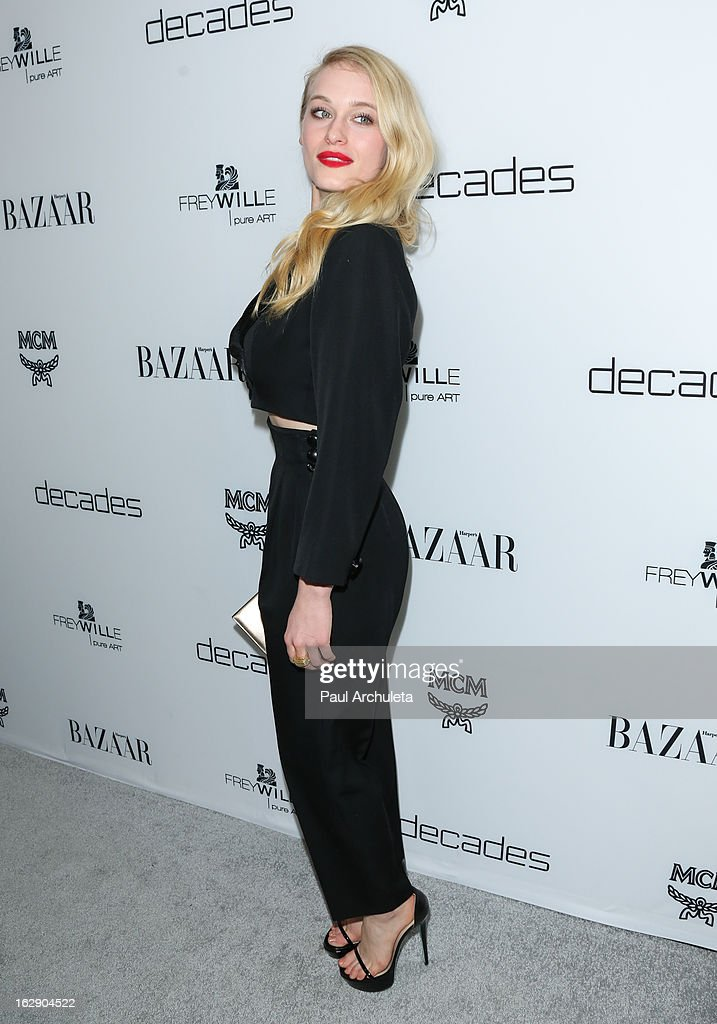 Actress Leven Rambin attends the Harper's BAZAAR celebration for the new Bravo series 'Dukes of Melrose' at The Terrace at Sunset Tower on February 28, 2013 in West Hollywood, California.