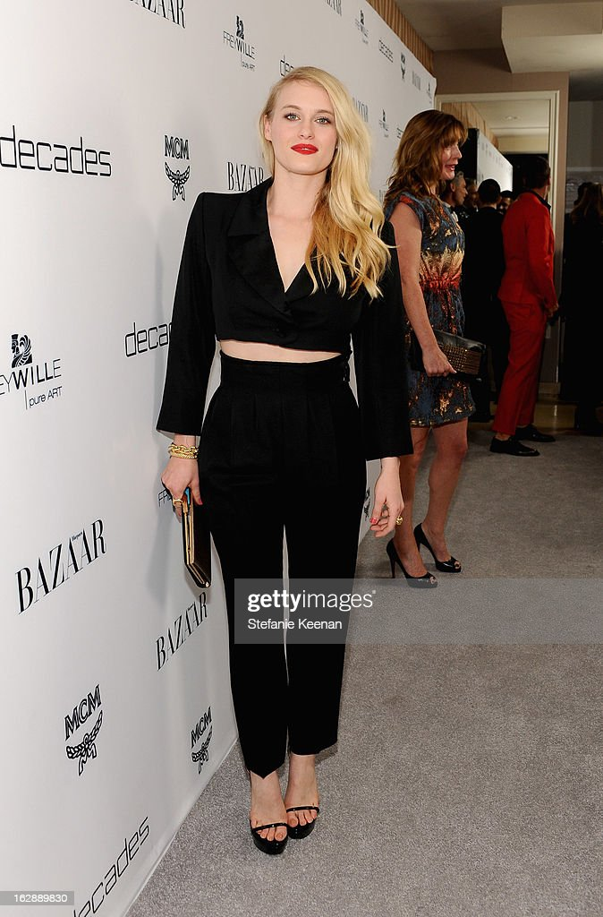 Actress Leven Rambin attends the Harper's BAZAAR celebration of the launch of Bravo TV's 'The Dukes of Melrose' starring Cameron Silver and Christos Garkinos at Sunset Tower on February 28, 2013 in West Hollywood, California.