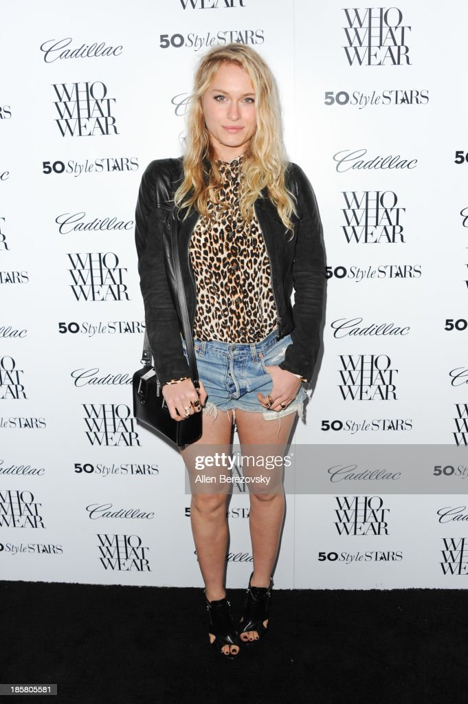Actress Leven Rambin attends the Who What Wear and Cadillac's 50 Most Fashionable Women of 2013 event at The London Hotel on October 24, 2013 in West Hollywood, California.
