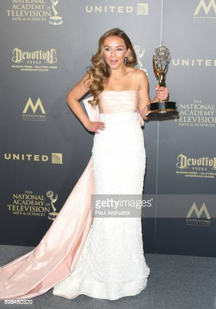 Actress Lexi Ainsworth attends the press room for the 44th annual Daytime Emmy Awards at Pasadena Civic Auditorium on April 30 2017 in Pasadena...