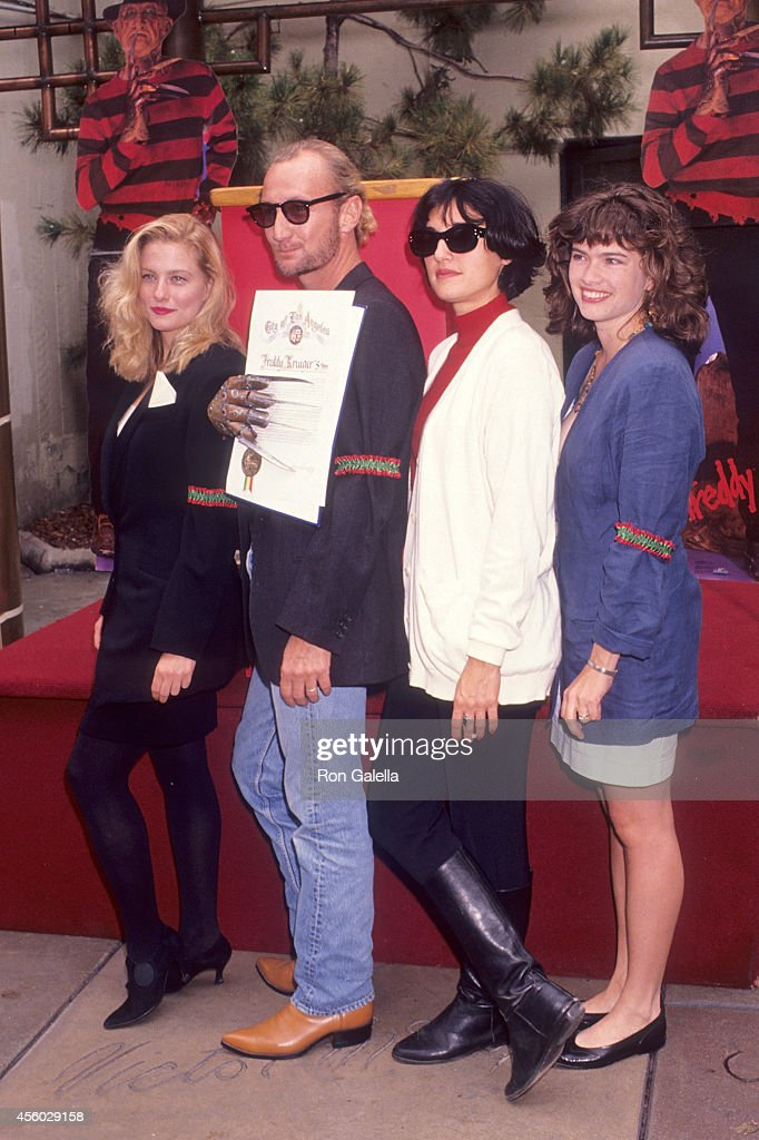 Actress Lezlie Deane actor Robert Englund actress Lisa Zane and actress Heather Langenkamp attend the 'Freddy's Dead The Final Nightmare' Hollywood...