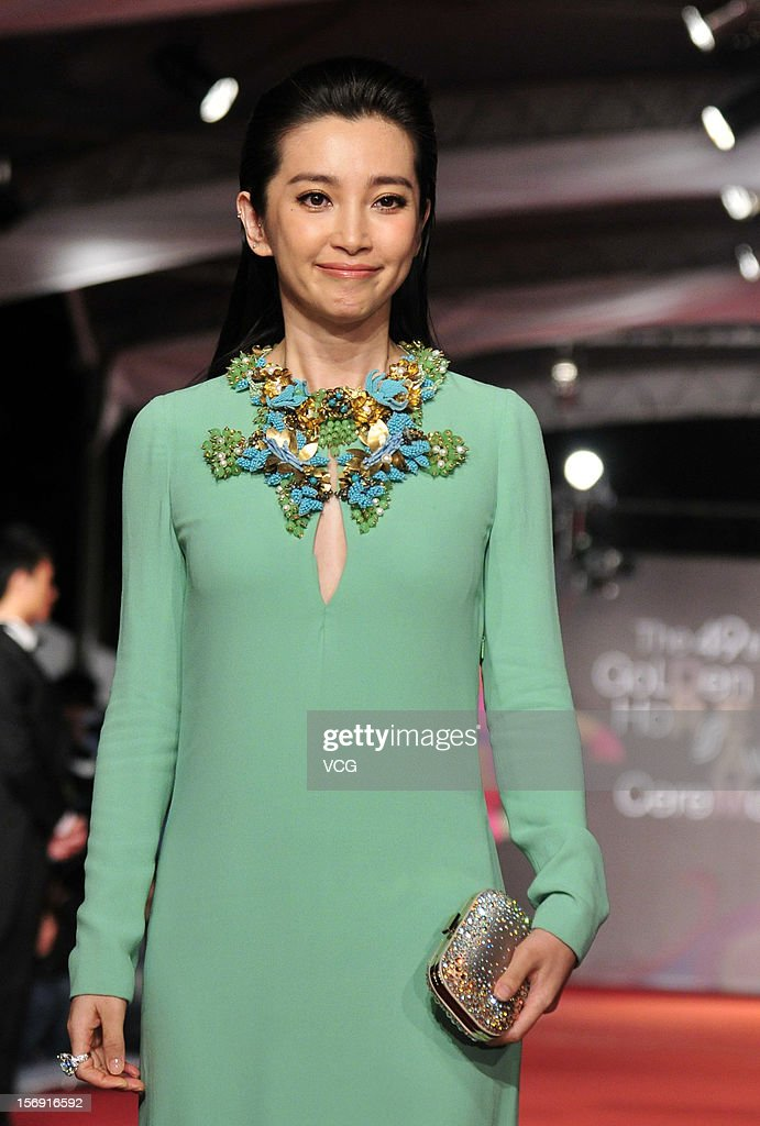 Actress <a gi-track='captionPersonalityLinkClicked' href=/galleries/search?phrase=Li+Bingbing&family=editorial&specificpeople=697017 ng-click='$event.stopPropagation()'>Li Bingbing</a> arrives at the red carpet of the 49th Golden Horse Awards at the Luodong Cultural Working House on November 24, 2012 in Ilan, Taiwan.