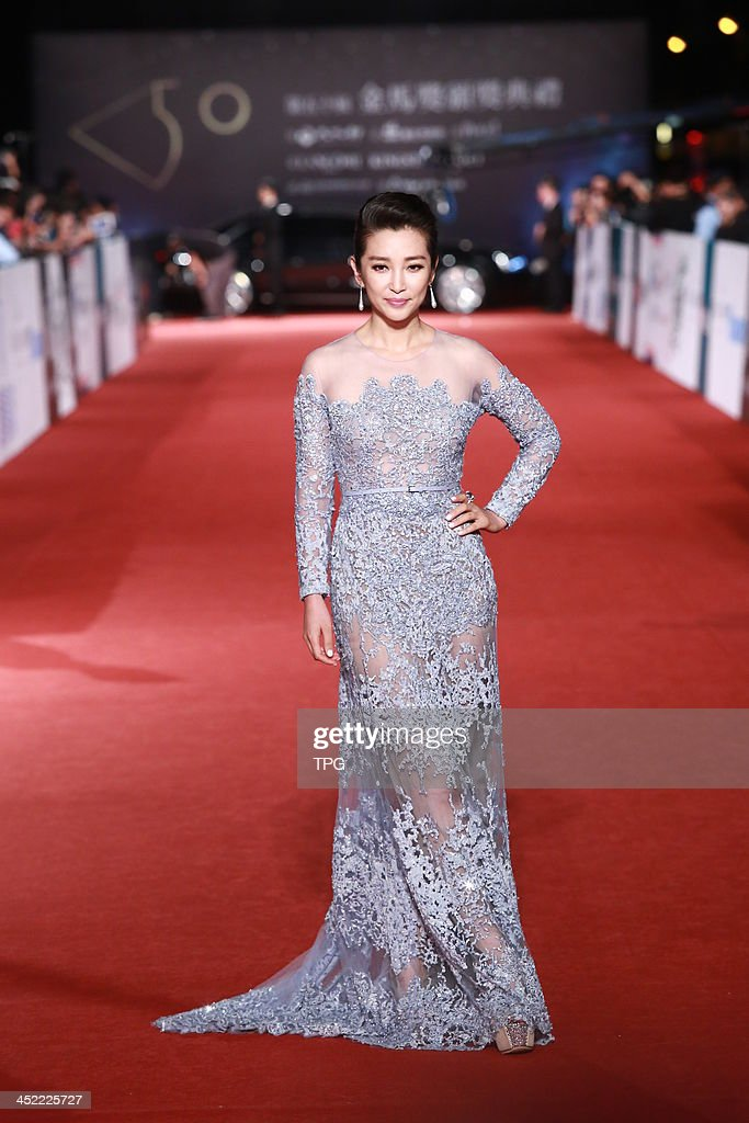 Actress Li Bingbing arrives at the redcarpet of 50th Golden Horse Awards on Saturday November 23,2013 in Taipei,China.