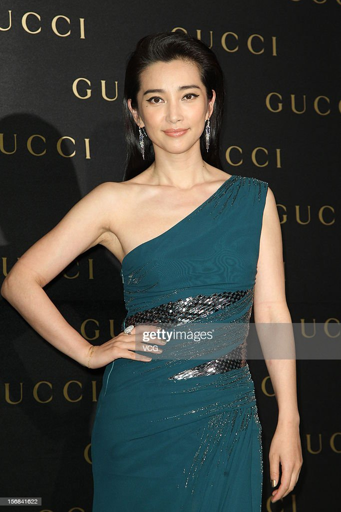 Actress Li Bingbing attends Gucci store opening ceremony at Taipei 101 on November 22, 2012 in Taipei, Taiwan.