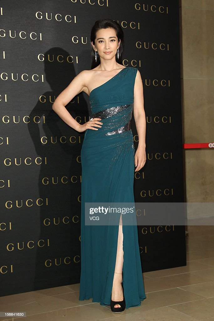 Actress <a gi-track='captionPersonalityLinkClicked' href=/galleries/search?phrase=Li+Bingbing&family=editorial&specificpeople=697017 ng-click='$event.stopPropagation()'>Li Bingbing</a> attends Gucci store opening ceremony at Taipei 101 on November 22, 2012 in Taipei, Taiwan.