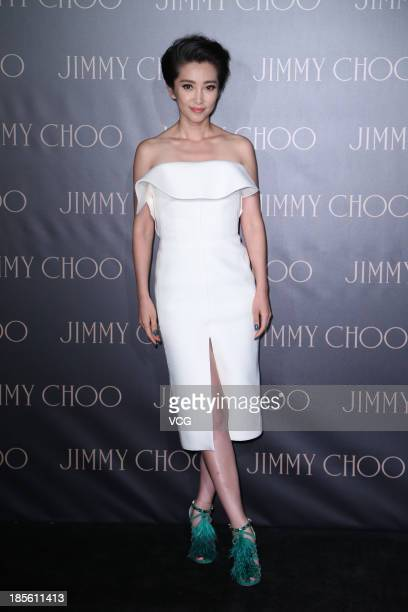 Actress Li Bingbing attends Jimmy Choo promotional event at Massenet Hotel on October 22 2013 in Shanghai China