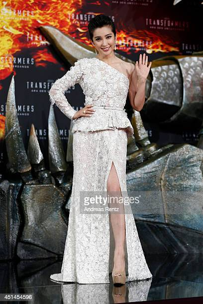 Actress Li Bingbing attends the european premiere of 'Transformers Age of Extinction' at Sony Centre on June 29 2014 in Berlin Germany