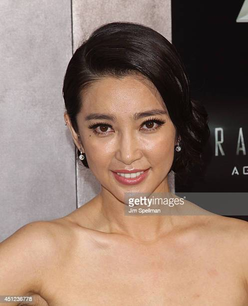 Actress Li Bingbing attends the 'Transformers Age Of Extinction' New York Premiere at the Ziegfeld Theater on June 25 2014 in New York City
