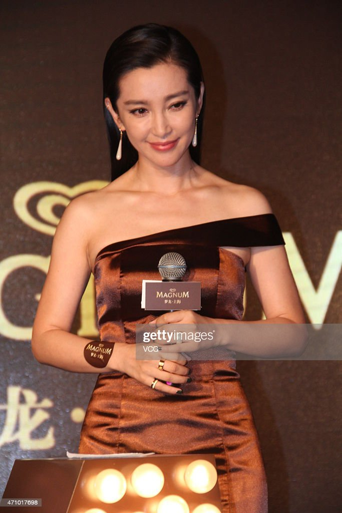 li bingbing promotes magnum ice cream in shanghai getty images. Black Bedroom Furniture Sets. Home Design Ideas