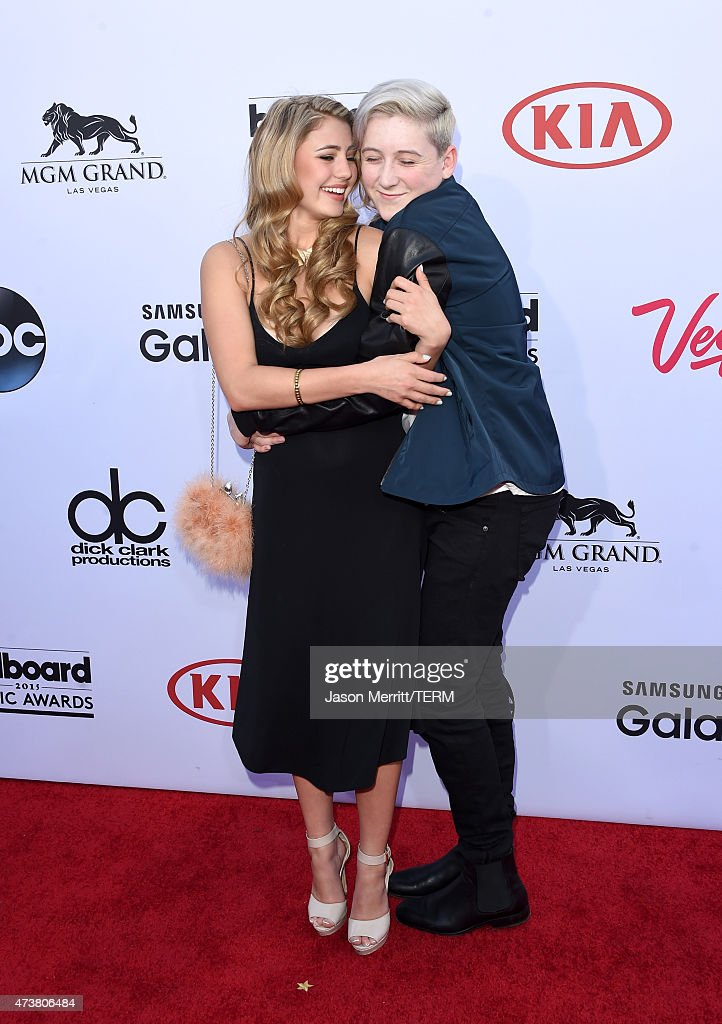 Actress Lia Marie Johnson (L) and singer Trevor Moran attend the 2015 Billboard Music Awards at MGM Grand Garden Arena on May 17, 2015 in Las Vegas, Nevada.