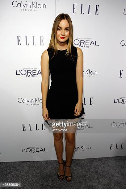 Actress Liana Liberato attends the 22nd Annual ELLE Women in Hollywood Awards presented by Calvin Klein Collection L'Oréal Paris and David Yurman at...