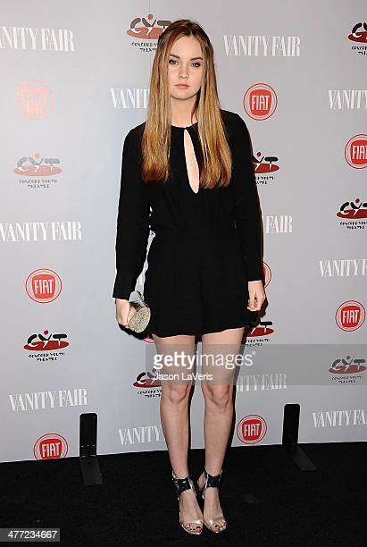 Actress Liana Liberato attends the Vanity Fair Campaign Young Hollywood party at No Vacancy on February 25 2014 in Los Angeles California