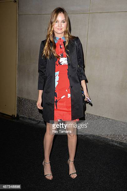 Actress Liana Liberato enters the 'Today Show' taping at the NBC Rockefeller Center Studios on October 16 2014 in New York City