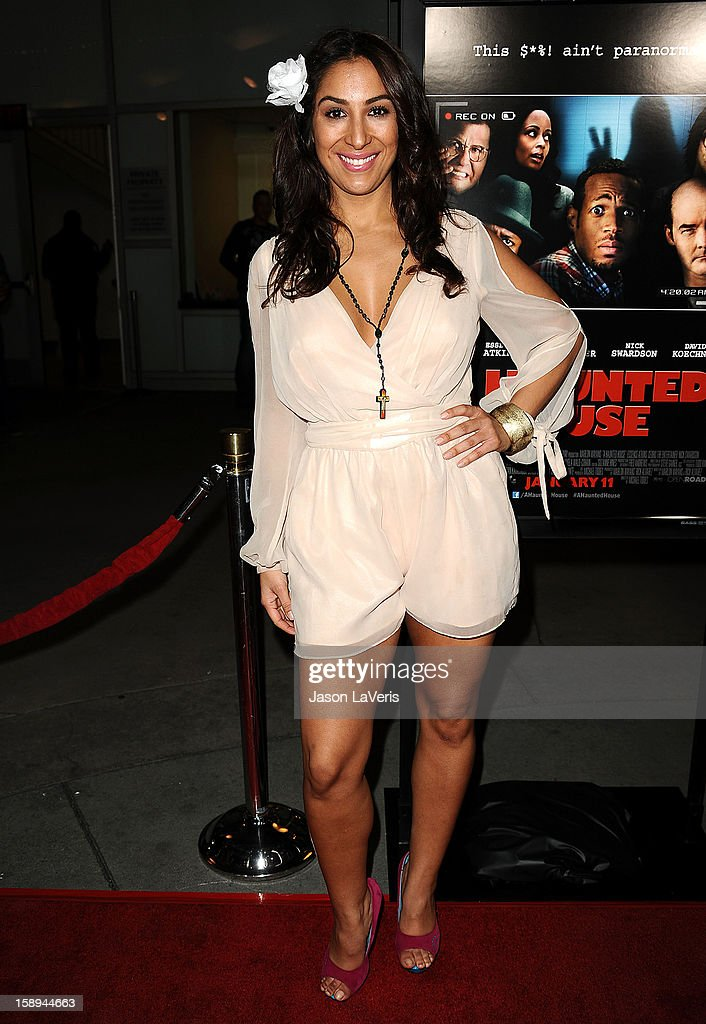 Actress Liana Mendoza attends the premiere of 'A Haunted House' at ArcLight Hollywood on January 3, 2013 in Hollywood, California.
