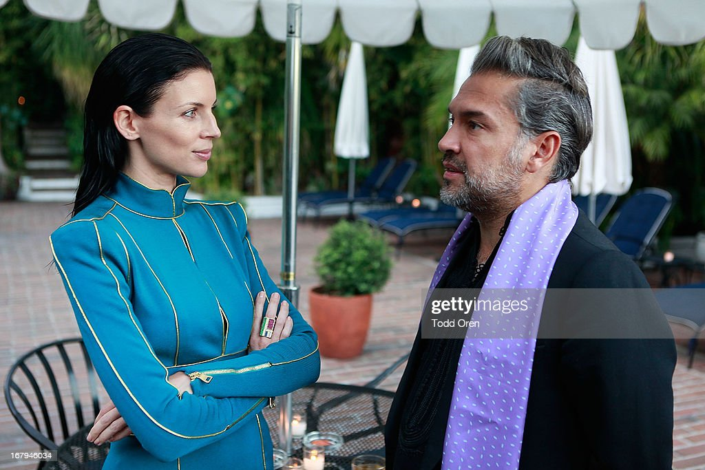 Actress Liberty Ross and Carlos Mota attend the Balmain LA Dinner at Chateau Marmont on May 2, 2013 in Los Angeles, California.