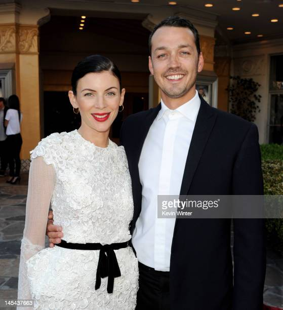 Actress Liberty Ross and her husband director Rupert Sanders arrive at a screening of Universal Pictures' 'Snow White and The Huntsman' at the...
