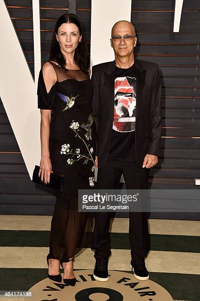 Actress Liberty Ross and producer Jimmy Iovine attend the 2015 Vanity Fair Oscar Party hosted by Graydon Carter at Wallis Annenberg Center for the...