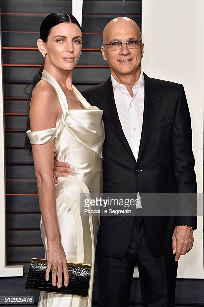 Actress Liberty Ross and record producer Jimmy Iovine attend the 2016 Vanity Fair Oscar Party Hosted By Graydon Carter at the Wallis Annenberg Center...