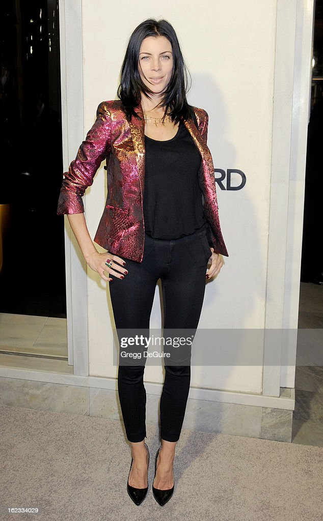 Actress <a gi-track='captionPersonalityLinkClicked' href=/galleries/search?phrase=Liberty+Ross&family=editorial&specificpeople=211135 ng-click='$event.stopPropagation()'>Liberty Ross</a> arrives at the Tom Ford cocktail party in support of Project Angel Food at TOM FORD on February 21, 2013 in Beverly Hills, California.