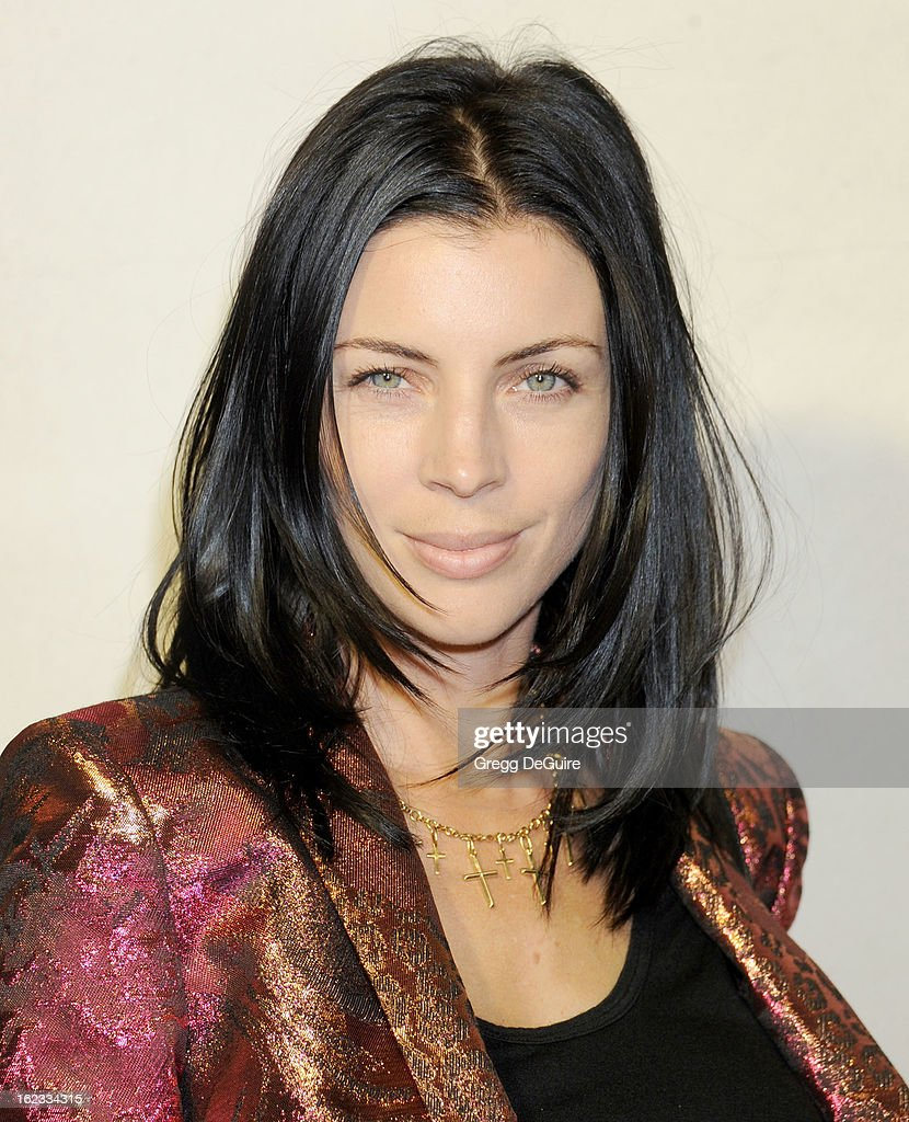 Actress Liberty Ross arrives at the Tom Ford cocktail party in support of Project Angel Food at TOM FORD on February 21, 2013 in Beverly Hills, California.