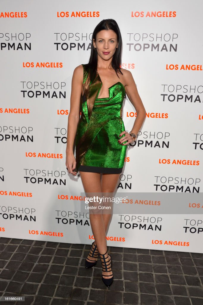 Actress Liberty Ross arrives at the Topshop Topman LA Opening Party at Cecconi's West Hollywood on February 13, 2013 in Los Angeles, California.