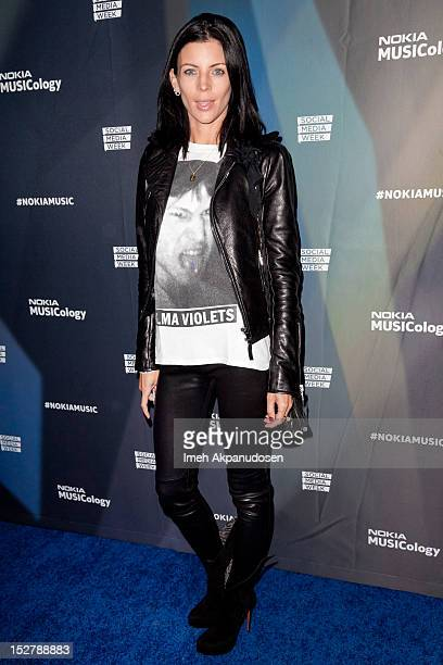 Actress Liberty Ross attends a Janelle Monae Nokia Music Launch Concert at Club Nokia with Janelle Monae on September 25 2012 in Los Angeles...