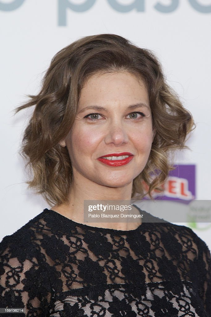 Actress Lidia Oton attends 'Cuentame Como Paso' 14th Season presentation at Capitol Cinema on January 8, 2013 in Madrid, Spain.