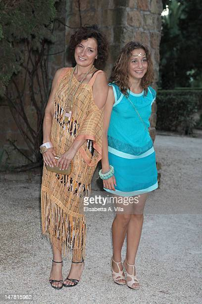 Actress Lidia Vitale and her daughter Blu attends 2012 Globo d'Oro Italian Golden Globes Award at Villa Massimo on July 3 2012 in Rome Italy