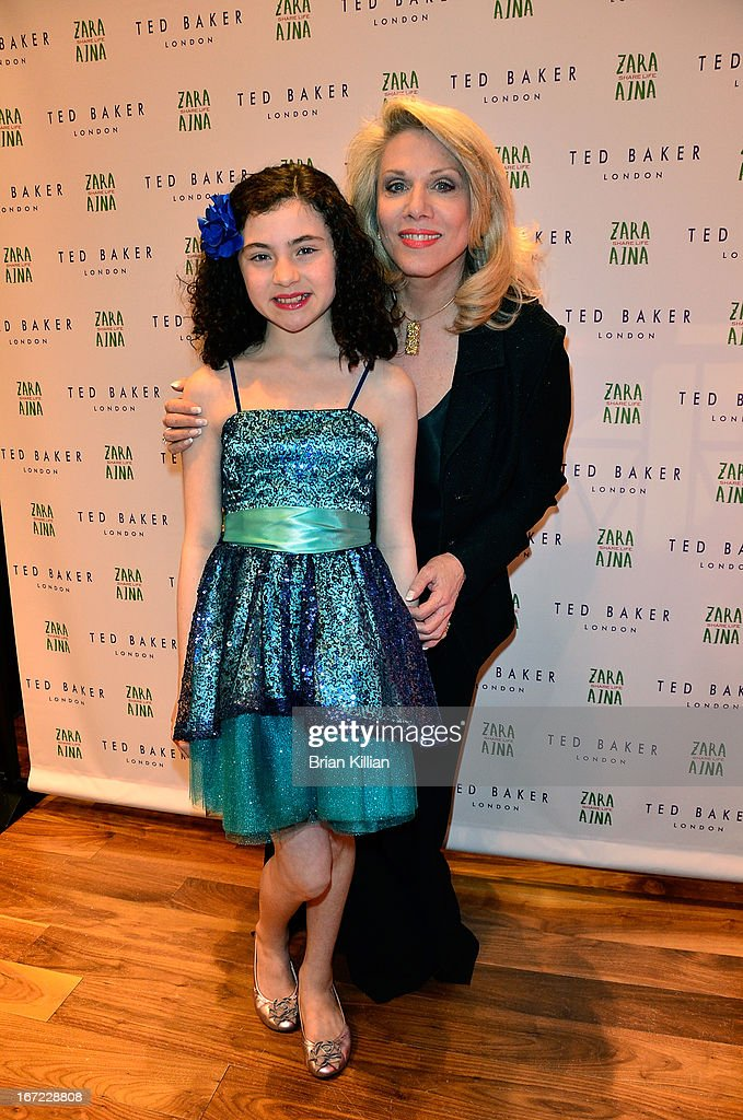 Actress Lila Crawford and singing teacher Badiene Magaziner attend the Zara Aina Foundation Benefit at Ted Baker on April 22, 2013 in New York City.