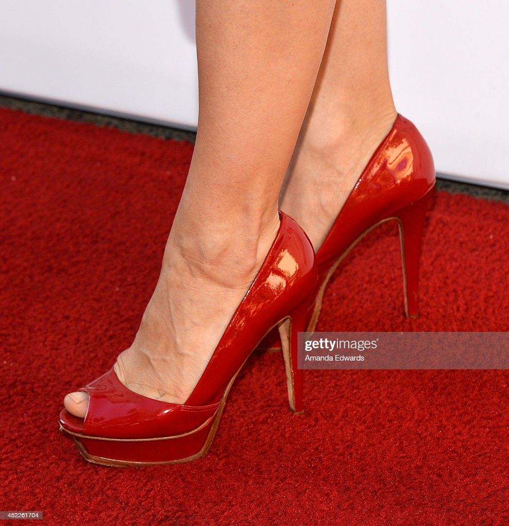 Actress Lili Bordan (shoe detail) arrives at the 4th Annual Variety - The Children's Charity of Southern CA Texas Hold 'Em Poker Tournament at Paramount Studios on July 16, 2014 in Hollywood, California.
