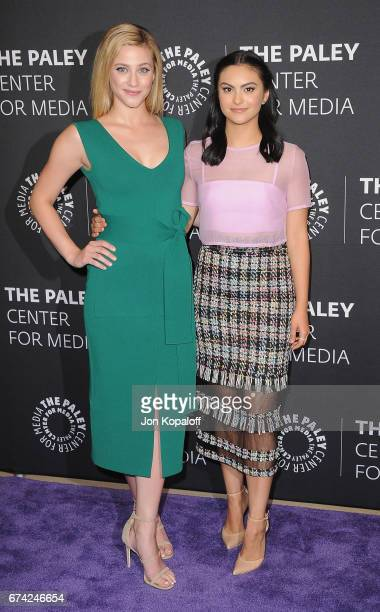 Actress Lili Reinhart and actress Camila Mendes arrive at the 2017 PaleyLive LA Spring Season 'Riverdale' Screening And Conversation at The Paley...