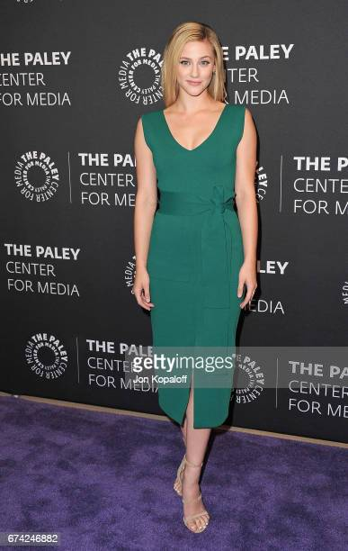 Actress Lili Reinhart arrives at the 2017 PaleyLive LA Spring Season 'Riverdale' Screening And Conversation at The Paley Center for Media on April 27...