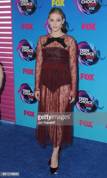 Actress Lili Reinhart arrives at the Teen Choice Awards 2017 at Galen Center on August 13 2017 in Los Angeles California
