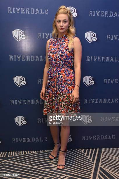 Actress Lili Reinhart poses during a photocall to promote Riverdale Tv Series at Four Season Hotel on April 06 2017 in Mexico City Mexico