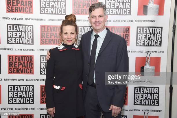 Actress Lili Taylor and Elevator Repair Service Board of Directors President John Collins attend the Elevator Repair Service Theater 25th Anniversary...