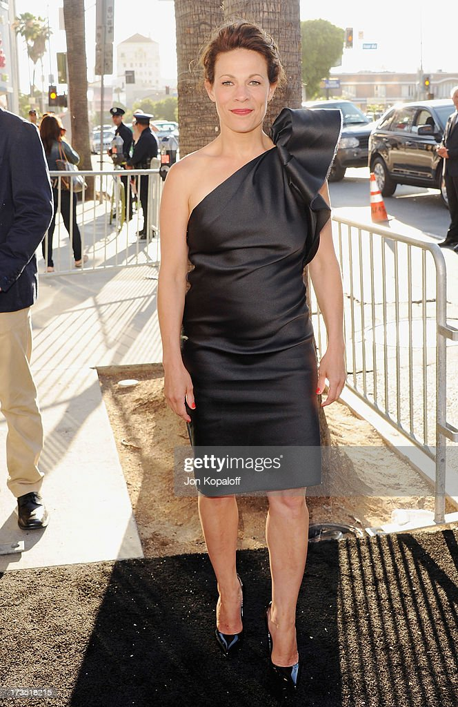 Actress Lili Taylor arrives at the Los Angeles Premiere 'The Conjuring' at ArcLight Cinemas Cinerama Dome on July 15, 2013 in Hollywood, California.