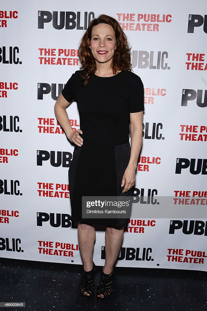 Actress <a gi-track='captionPersonalityLinkClicked' href=/galleries/search?phrase=Lili+Taylor&family=editorial&specificpeople=693682 ng-click='$event.stopPropagation()'>Lili Taylor</a> attends 'The Library' opening night celebration at The Public Theater on April 15, 2014 in New York City.