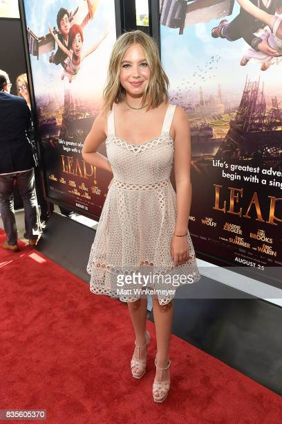 Actress Lilia Buckingham attends the Weinstein Company's 'LEAP' at The Grove on August 19 2017 in Los Angeles California