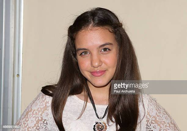 Actress Lilimar Hernandez attends 'Twintastic' opening night at El Portal Theatre on March 19 2015 in North Hollywood California