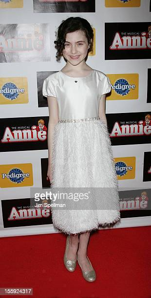 Actress Lilla Crawford attends the 'Annie' Broadway Opening Night after party at the Hard Rock Cafe New York on November 8 2012 in New York City