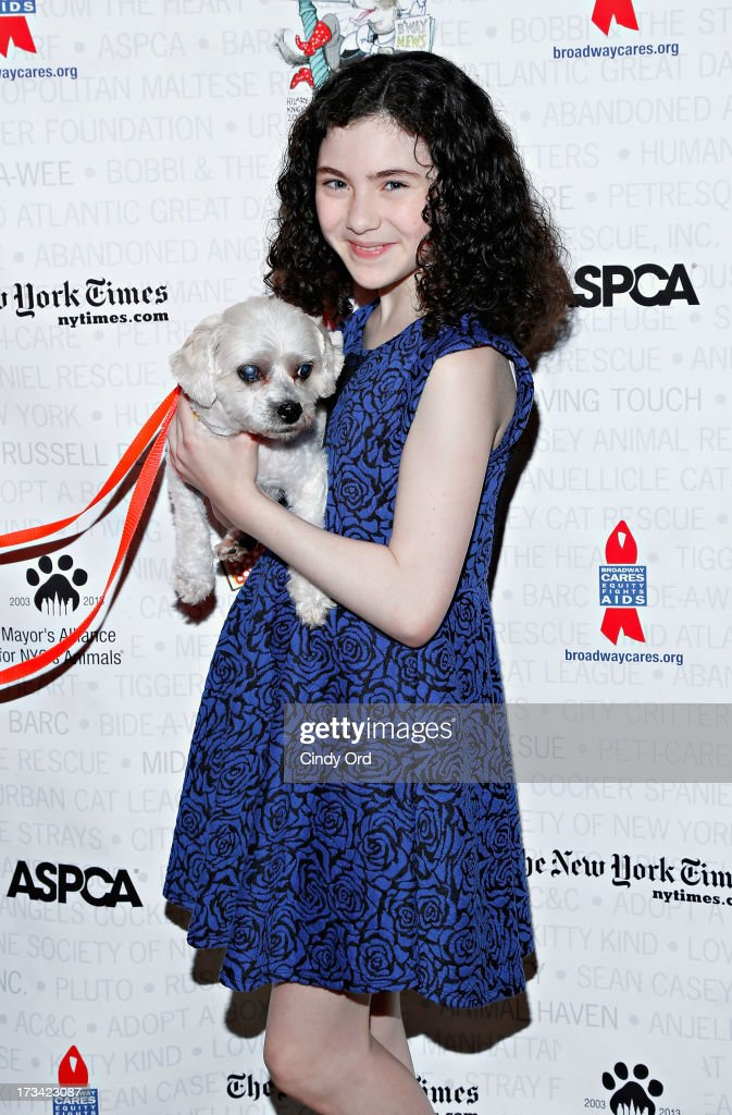 Actress Lilla Crawford attends the Broadway Barks 15th Animal Adoption Event at Shubert Alley on July 13, 2013 in New York City.