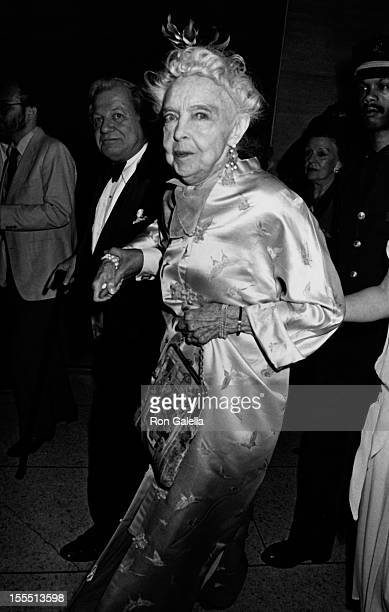 Actress Lillian Gish attends Film Society of Lincoln Center Tribute on May 5 1986 at Avery Fisher Hall at Lincoln Center in New York City