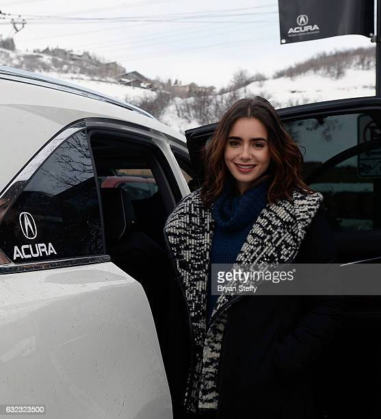 Actress Lilly Collins is seen during the 2017 Sundance Film Festival on January 21 2017 in Park City Utah