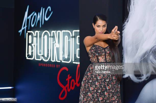 Actress Lilly Singh attends the premiere of Focus Features' 'Atomic Blonde' at The Theatre at Ace Hotel on July 24 2017 in Los Angeles California