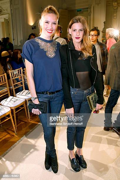 Actress Lilou Fogli and Juliette Maillot attend the Alexis Mabille show as part of the Paris Fashion Week Womenswear Spring/Summer 2015 on September...